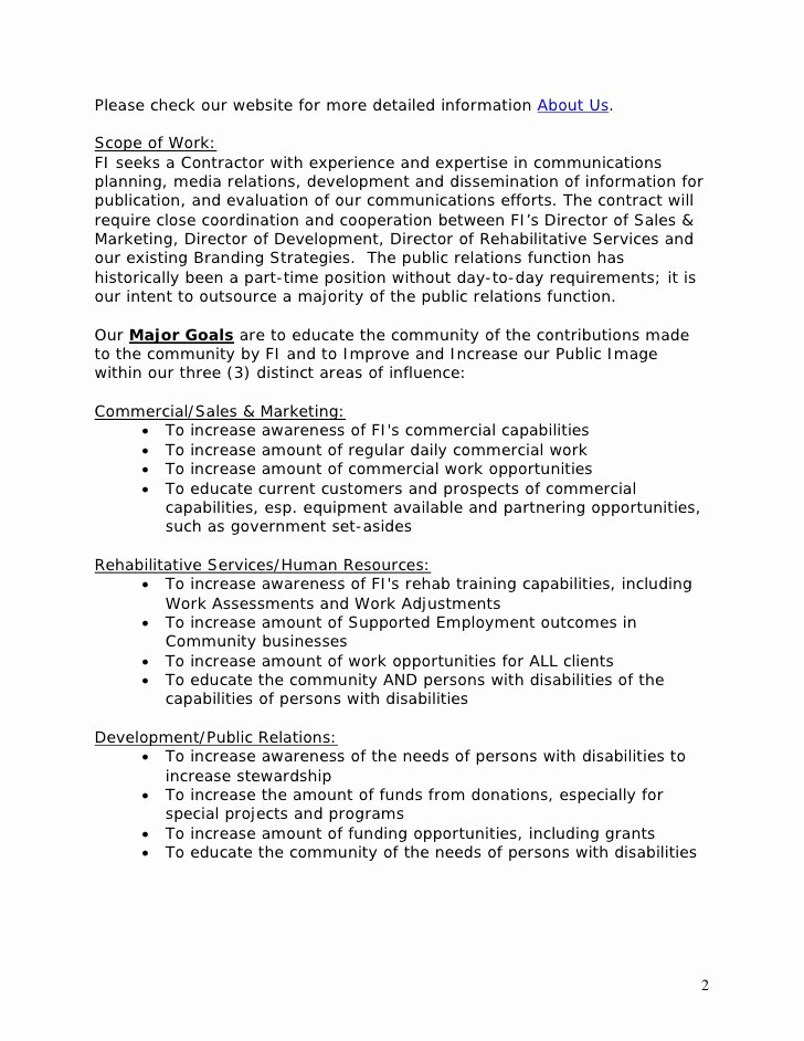 Public Relations Plans Template Fresh Template Public Relations Rfp