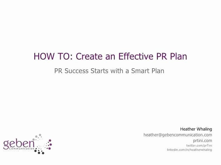 Public Relations Plans Template Luxury Free 44 Pr Plan Template Examples