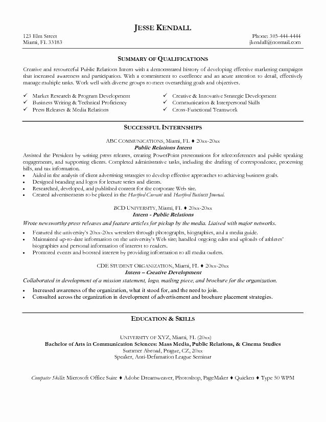 Public Relations Resume Template Beautiful Public Relations Resume Examples 2015 You Need A Resume
