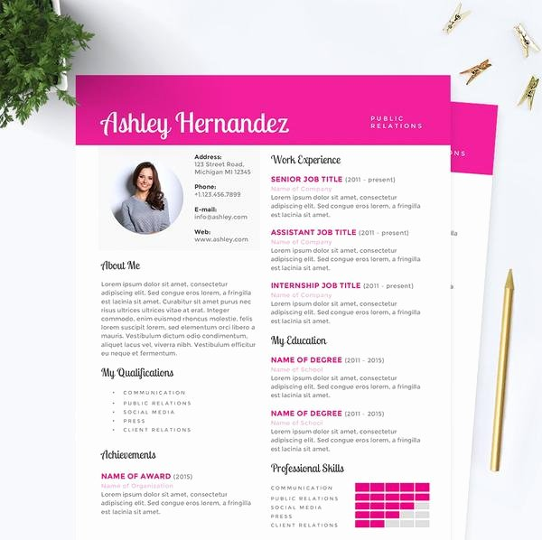 Public Relations Resume Template Lovely Bright Pink Public Relations Resume Cover Letter