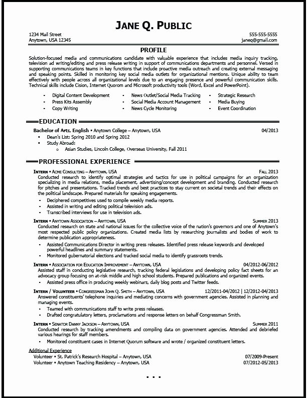 Public Relations Resume Template Luxury 15 Public Relations Resumes Samples