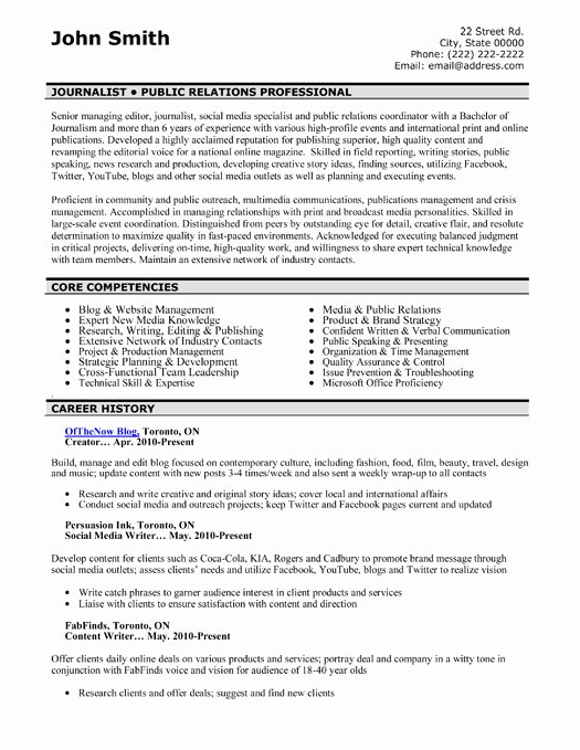Public Relations Resume Template Luxury top Public Relations Resume Templates & Samples