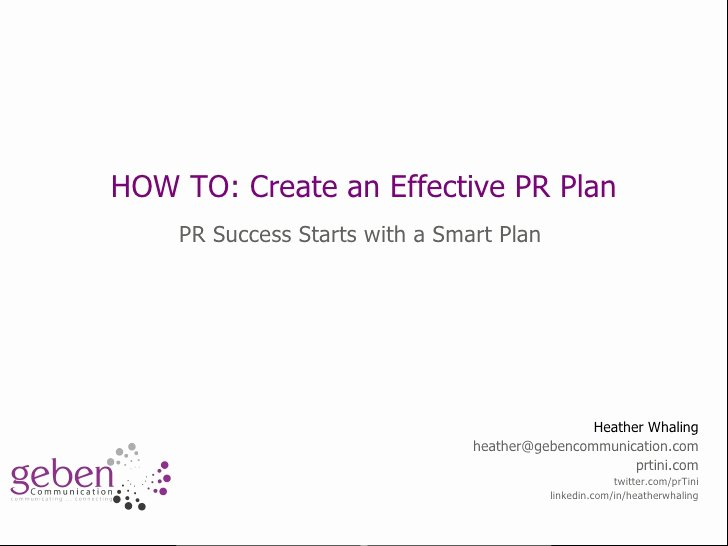 Public Relations Strategy Template Fresh How to Start Creating A Pr Plan