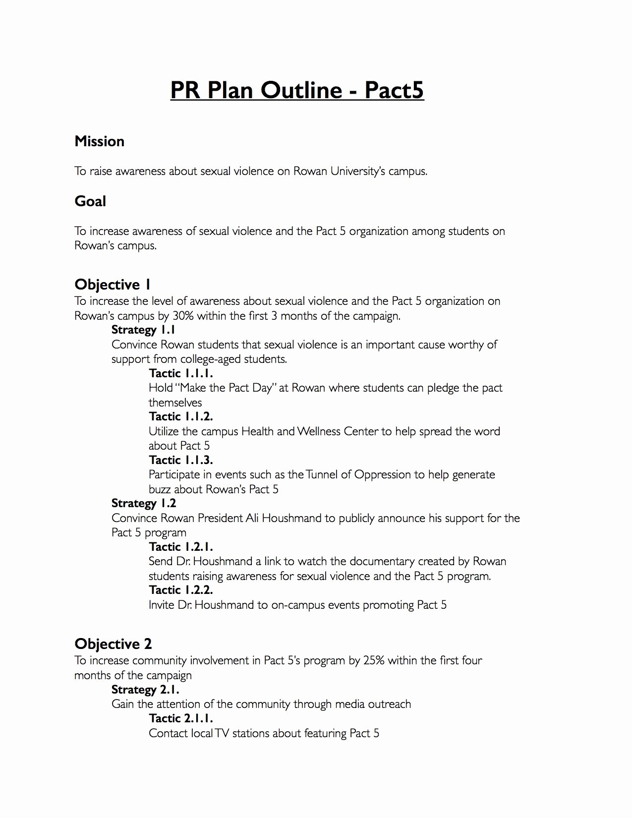 Public Relations Strategy Template Fresh Pr Proposal Template