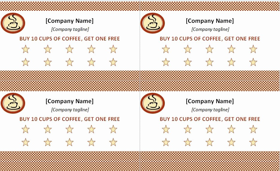 Punch Card Template Free Beautiful Punch Card Template