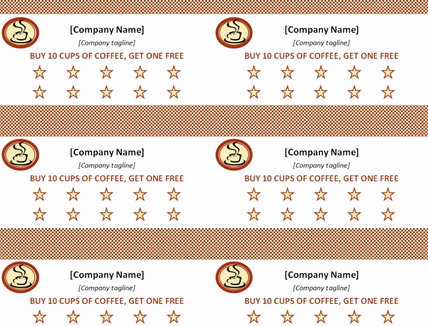 Punch Card Template Free Fresh Punch Card Template Template Haven