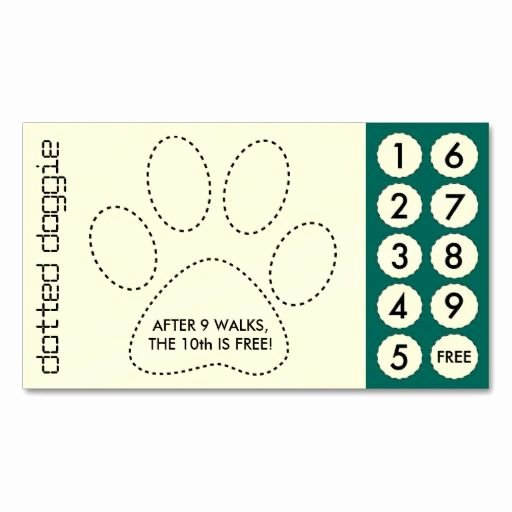 Punch Card Template Free Inspirational Dog Walker Cut Out Punch Cards