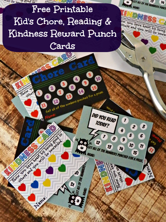 Punch Card Template Free Inspirational Free Printable Kid S Chore Reading & Kindness Reward