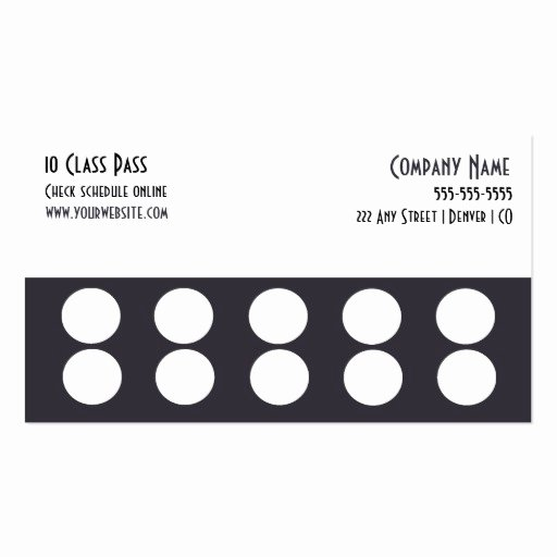 Punch Card Template Free Unique Loyalty Punch Card Business Card Business Card Templates