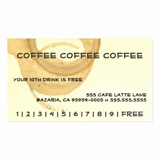 Punch Card Template Word Awesome Coffee Coffee Coffee Punch Card Business Card Templates