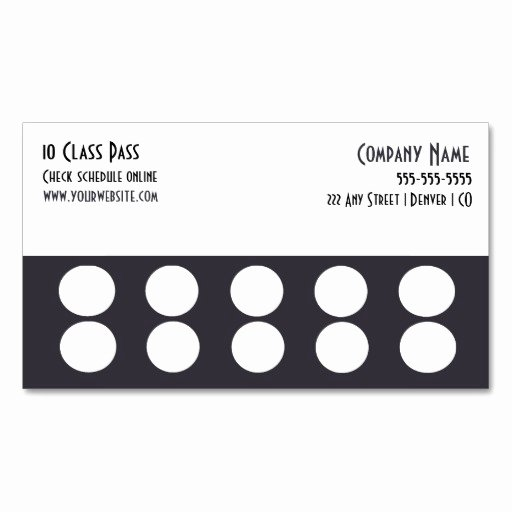 Punch Card Template Word Awesome Punch Card Template