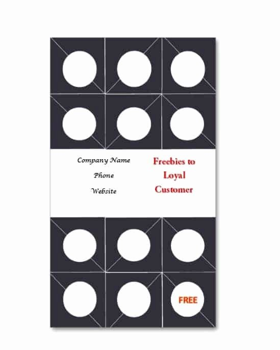Punch Card Template Word Beautiful 30 Printable Punch Reward Card Templates [ Free]