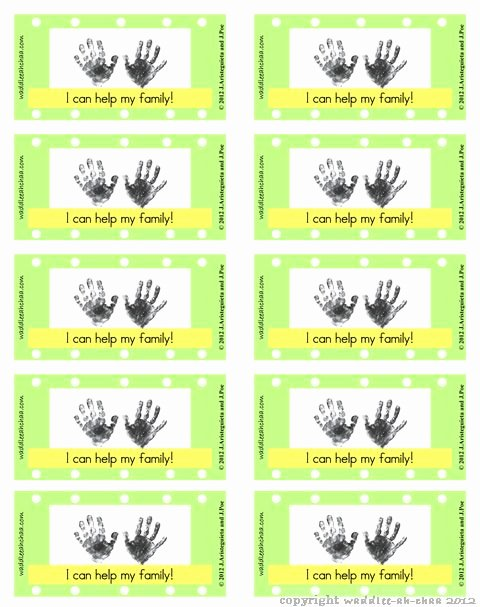 Punch Card Template Word Best Of Chore Reward Punch Card 2012 Homeschool