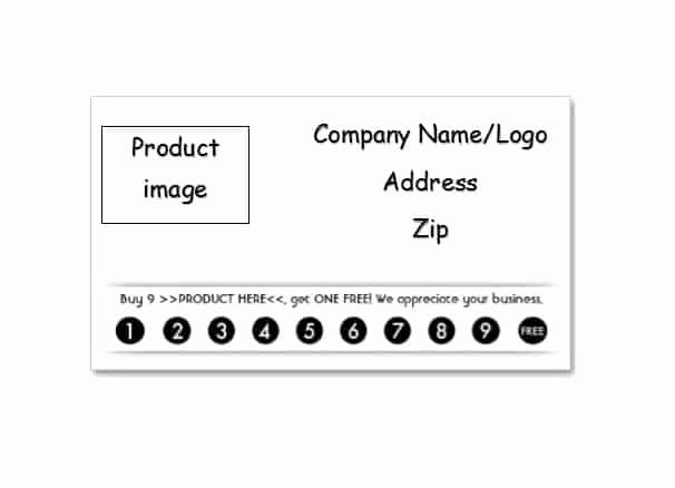 Punch Card Template Word Fresh 30 Printable Punch Reward Card Templates [ Free]