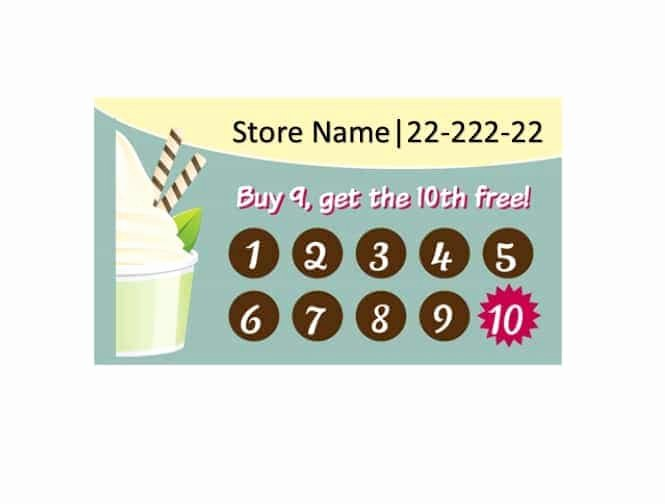 Punch Card Template Word Inspirational 30 Printable Punch Reward Card Templates [ Free]