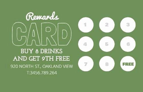 Punch Card Template Word Lovely Loyalty Cards and Loyalty Card Program Design by Design Wizard