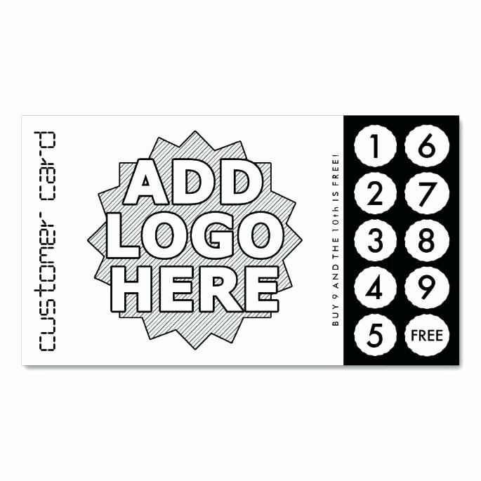 Punch Card Template Word Luxury Tattoo Business Cards Templates Free Best Customer Loyalty