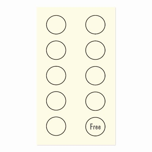 Punch Cards Template Free Fresh Punch Card Template