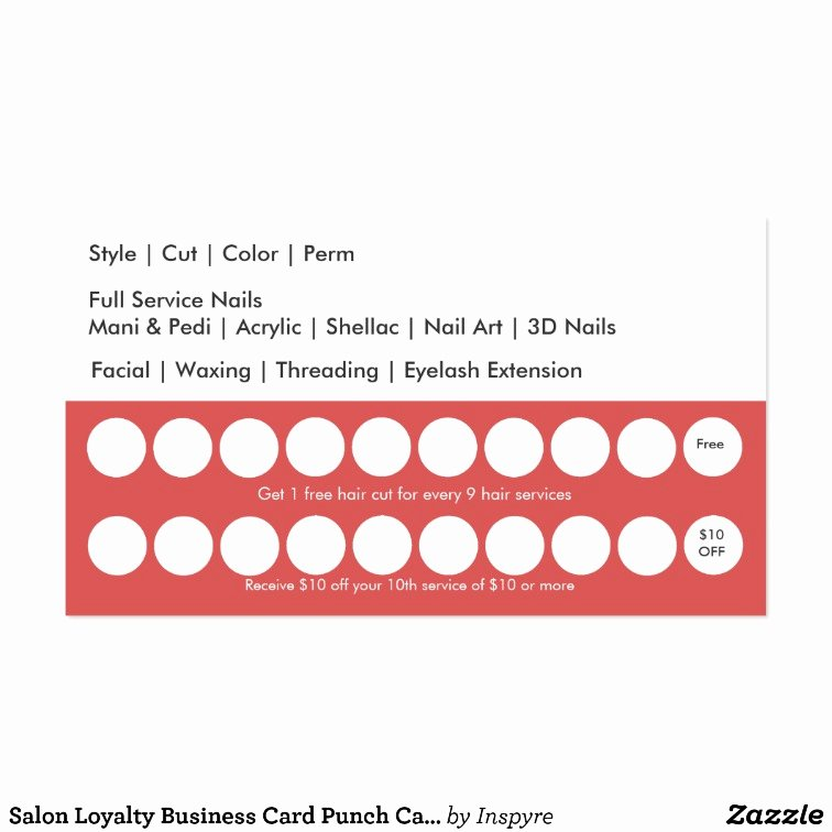 Punch Cards Template Free New Salon Loyalty Business Card Punch Card