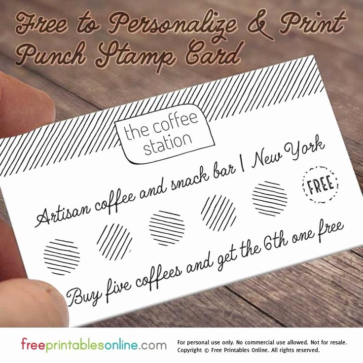 Punch Cards Template Free New This Free Personalized Loyalty Punch Card Utilises A