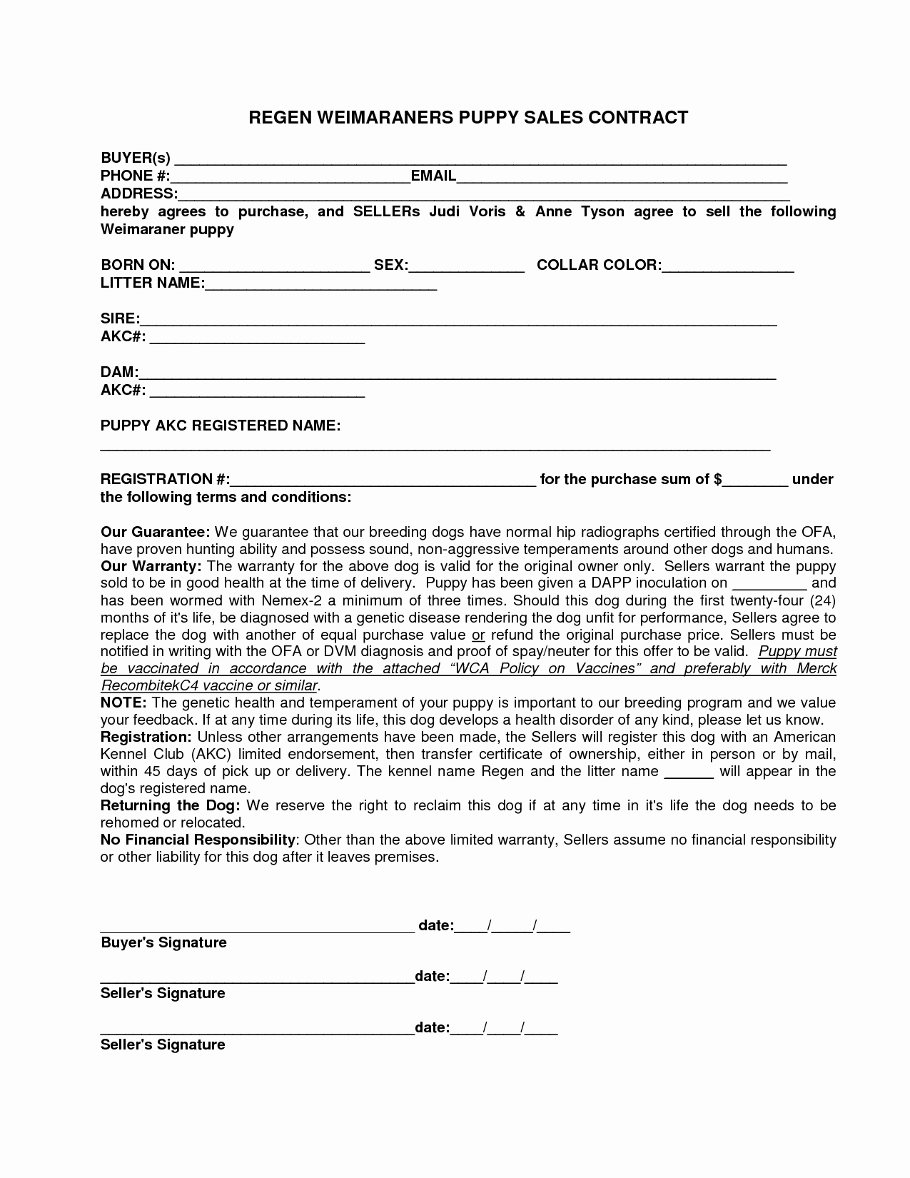 Puppy Sale Contract Template Awesome 12 Best Of Sale by Owner Purchase Agreement for