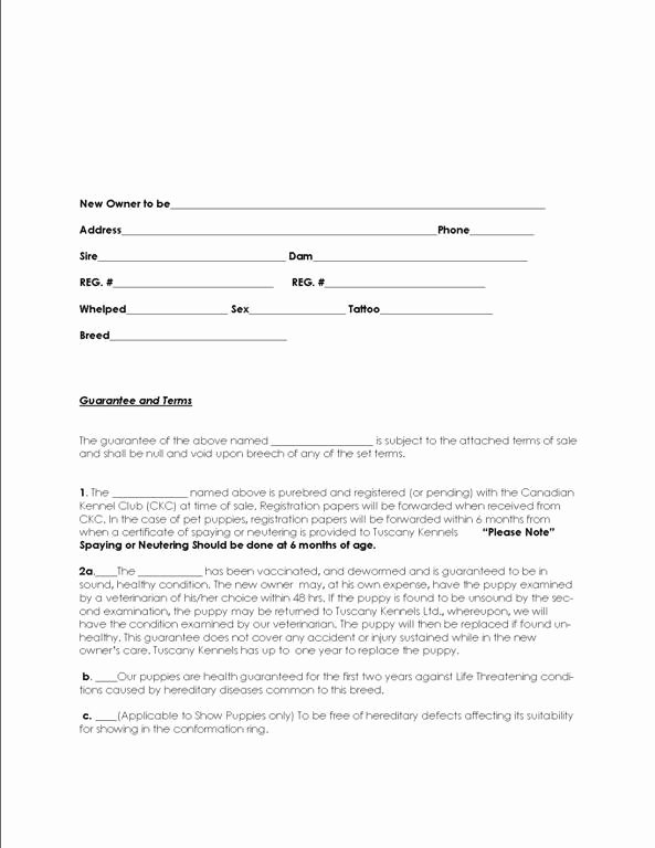 Puppy Sale Contract Template New 19 Of Puppy Purchase Agreement Template