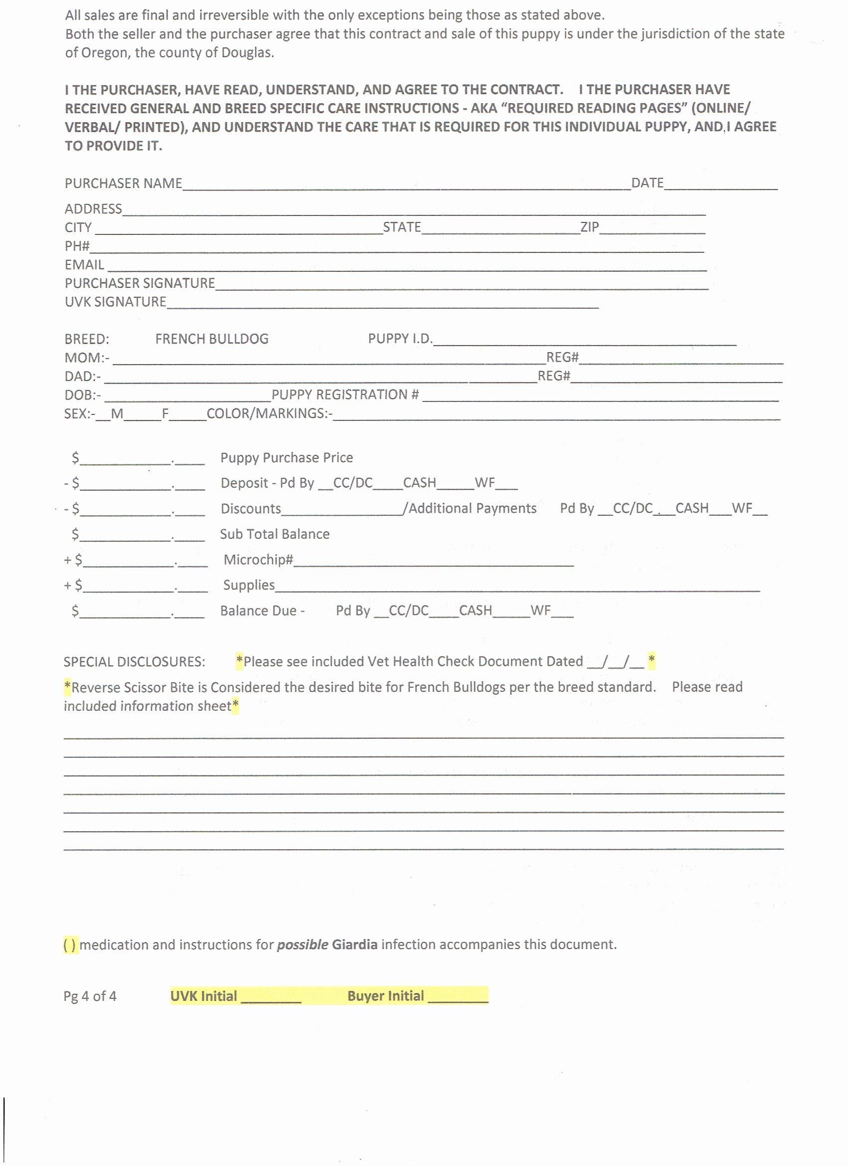 Puppy Sales Contract Template Beautiful Puppy Sales Contract Design Templates