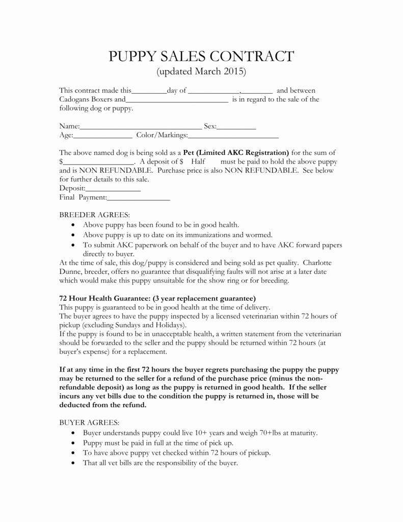 Puppy Sales Contract Template Lovely Puppy Sales Contract Design Templates