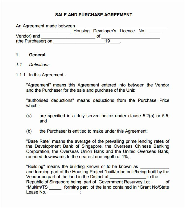 Purchase Agreement Template Word Awesome Sample Buy Sell Agreement 7 Free Documents In Pdf Word