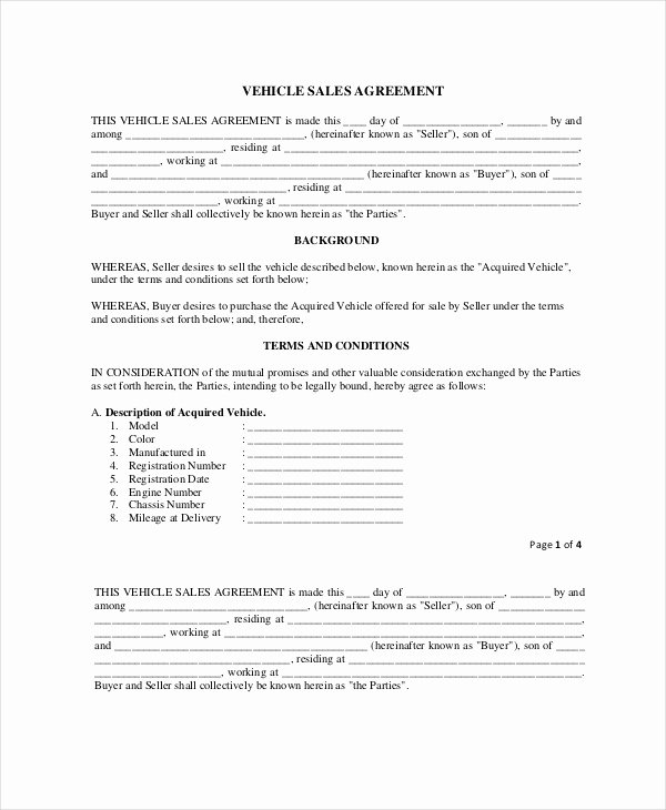 Purchase Agreement Template Word Beautiful 19 Purchase and Sale Agreement Templates Word Pdf