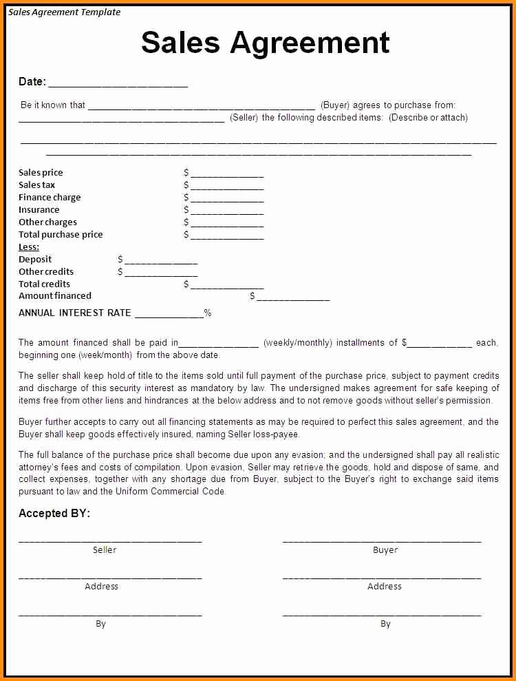 Purchase Agreement Template Word Fresh Effective Purchase Contract or Purchase Agreement Template