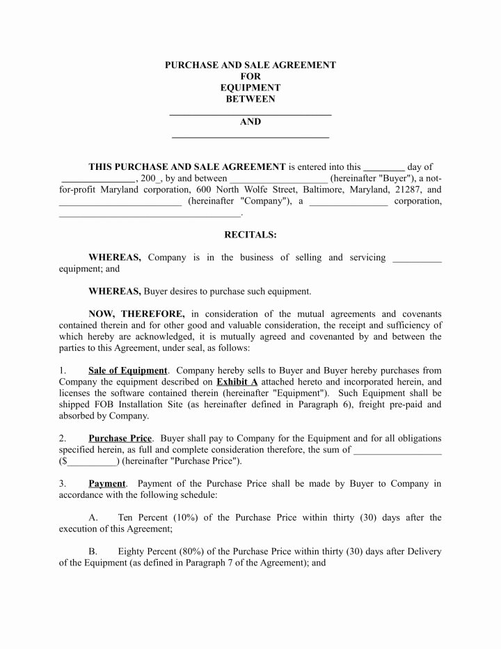 Purchase Agreement Template Word Luxury 5 Supply Agreements for A Restaurant Cafe & Bakery Pdf
