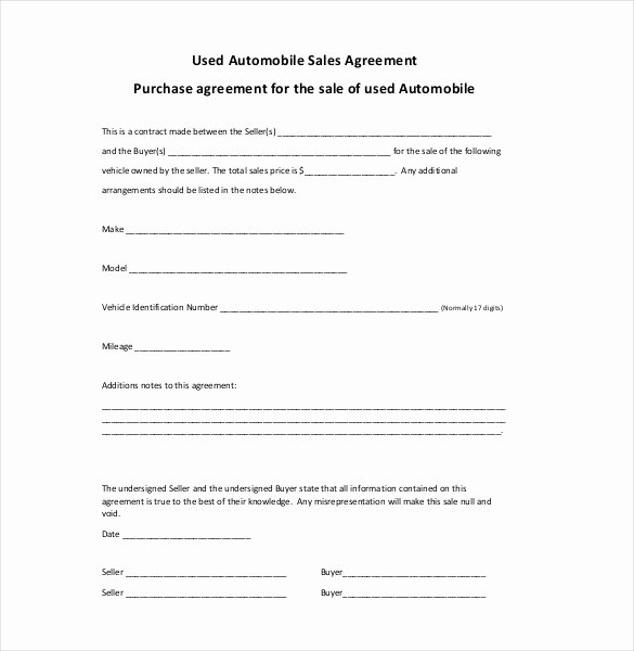 Purchase Agreement Template Word New Sales Agreement Template 20 Word Pdf Google Docs