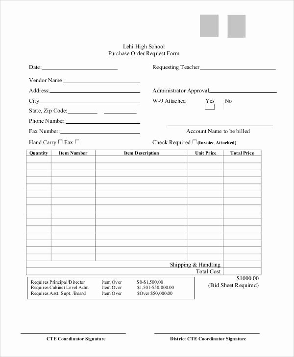 Purchase Requisition form Template Best Of 8 Sample Purchase order Request forms