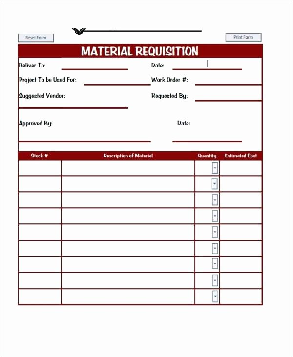Purchase Requisition form Template Fresh Sample Requisition form Free Documents In Doc Excel