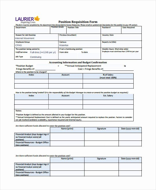 Purchase Requisition forms Template Elegant Requisition form Template 8 Free Pdf Documents Download
