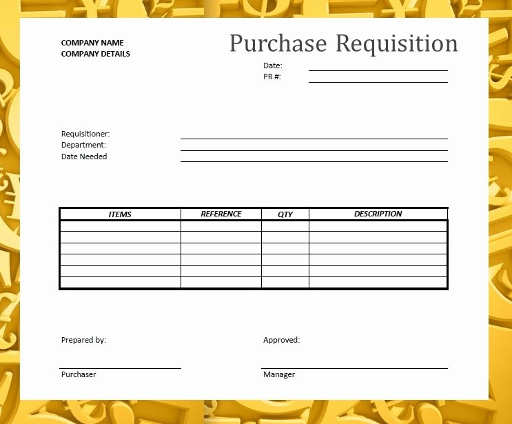 Purchase Requisition forms Template Fresh forms & Documents Needed for Proper Accounting