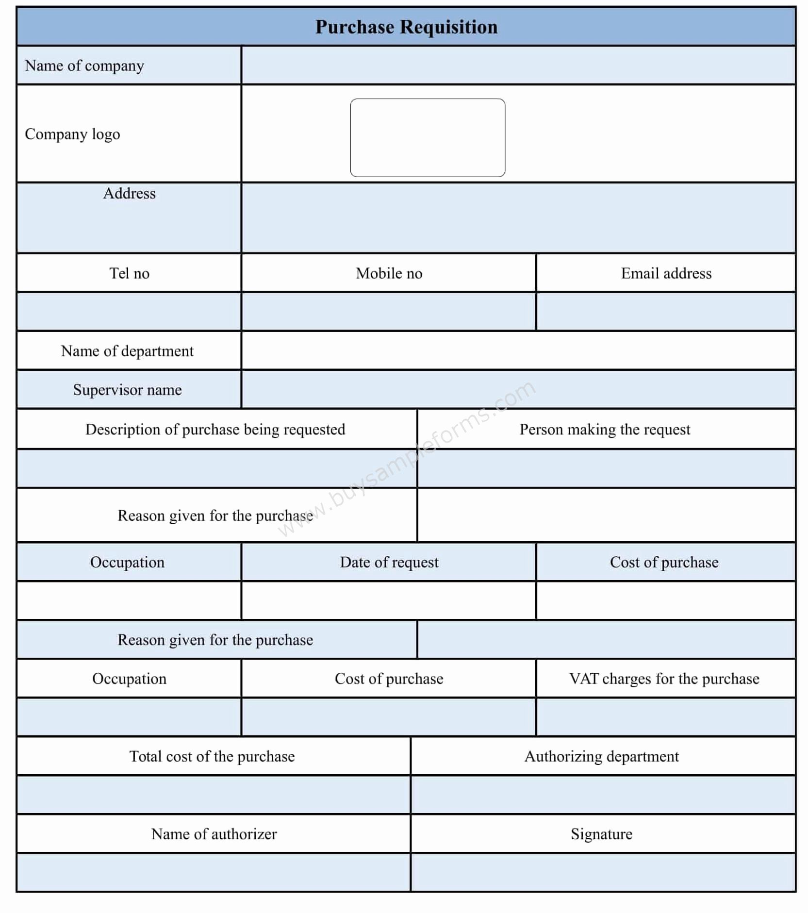 Purchase Requisition forms Template Inspirational Purchase Requisition form Template Doc