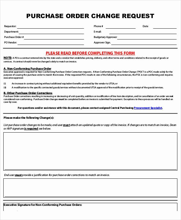 Purchasing Request form Template Beautiful 8 Sample Purchase order Request forms