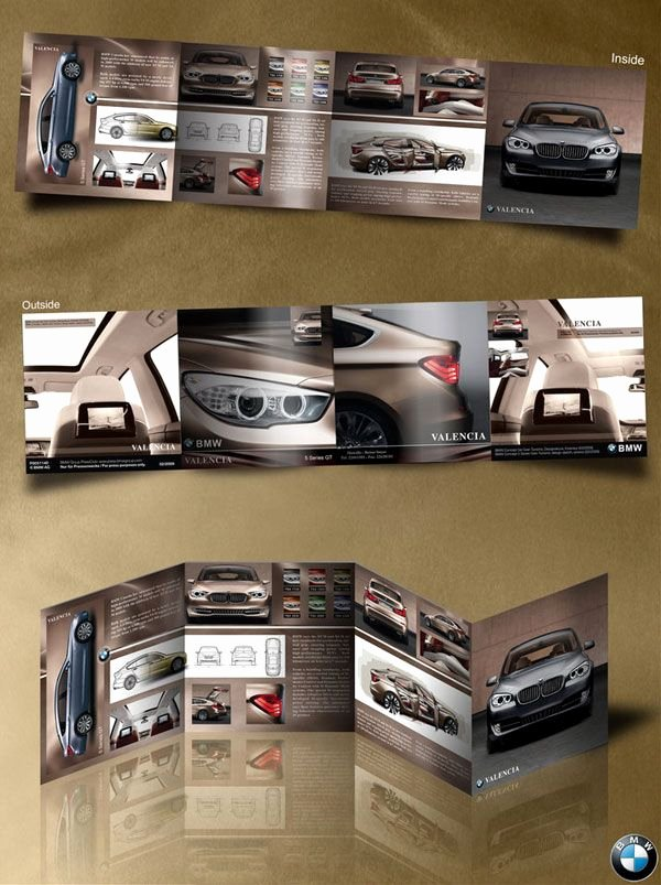 Quad Fold Brochure Template Awesome Bmw Quad Fold Brochure Design 20 Simple yet Beautiful