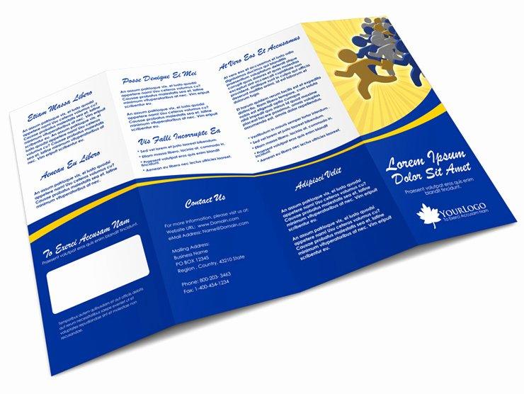 Quad Fold Brochure Template Beautiful 4 Panel Accordion Brochure Mock Up
