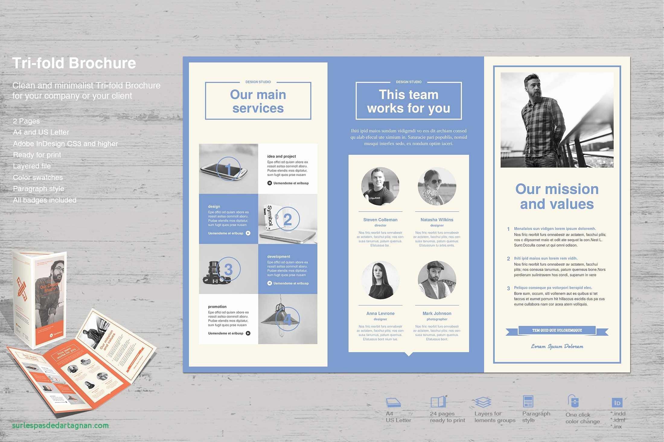 Quad Fold Brochure Template Beautiful Tri Fold Letter Template Samples