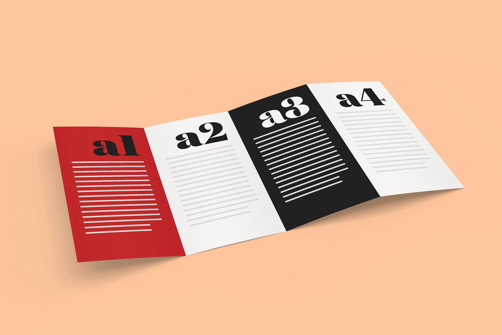 Quad Fold Brochure Template Luxury Free 4 Panel Quad Fold Brochure Mockup Psd Good Mockups