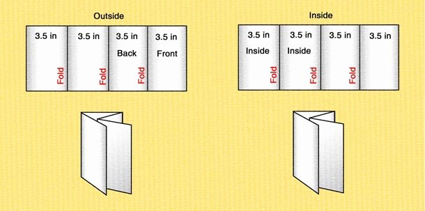 Quad Fold Brochure Template Luxury Quad Fold Brochure Template 14 Standard Types Brochure