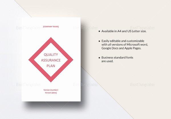 Quality assurance Plan Template Beautiful 12 Quality assurance Plan Templates – Free Sample