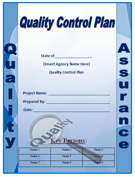Quality assurance Plan Template Inspirational Quality Control Plan Template Microsoft Word Templates