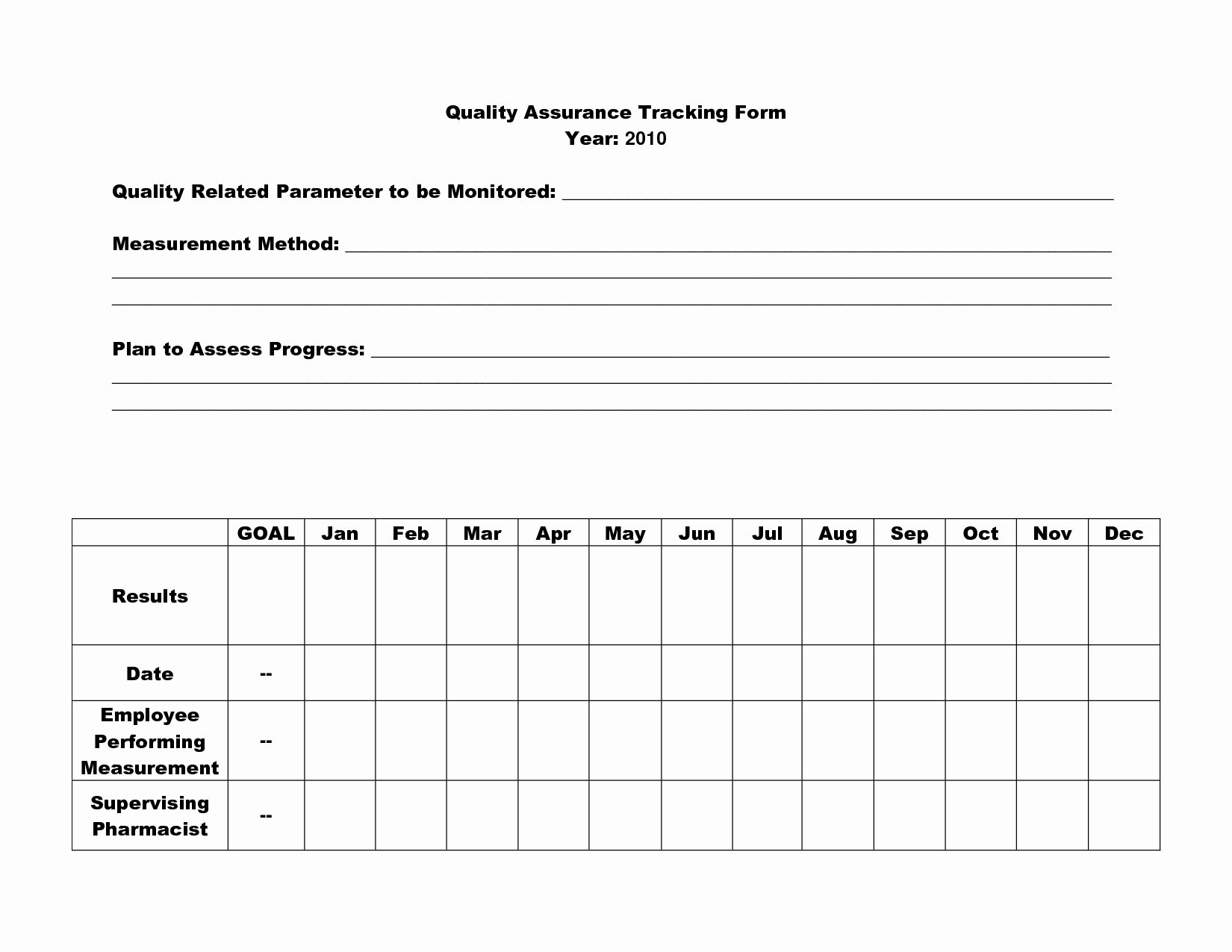 Quality assurance Program Template New 16 Best Of Quality assurance Worksheet Nursing