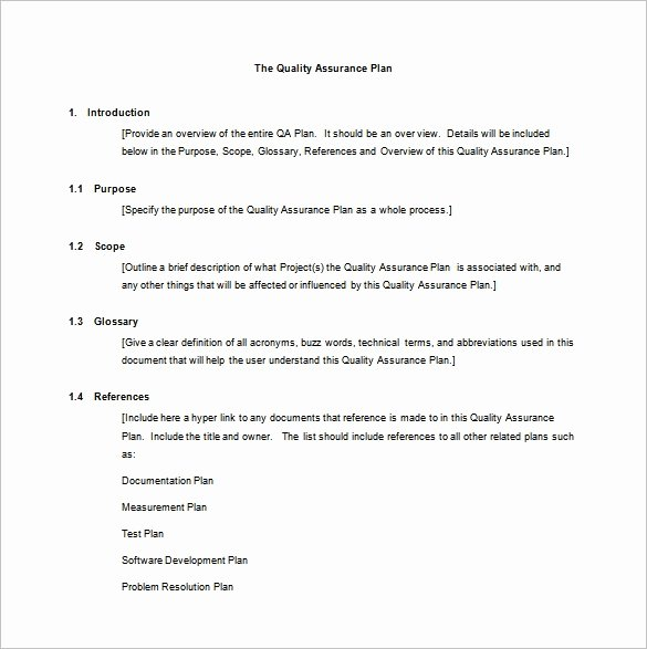 Quality assurance Program Template Unique 7 Quality assurance Plan Template Word Pdf Ppt