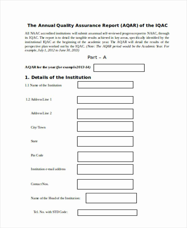 Quality assurance Reports Template Awesome 11 Sample Quality Report Templates