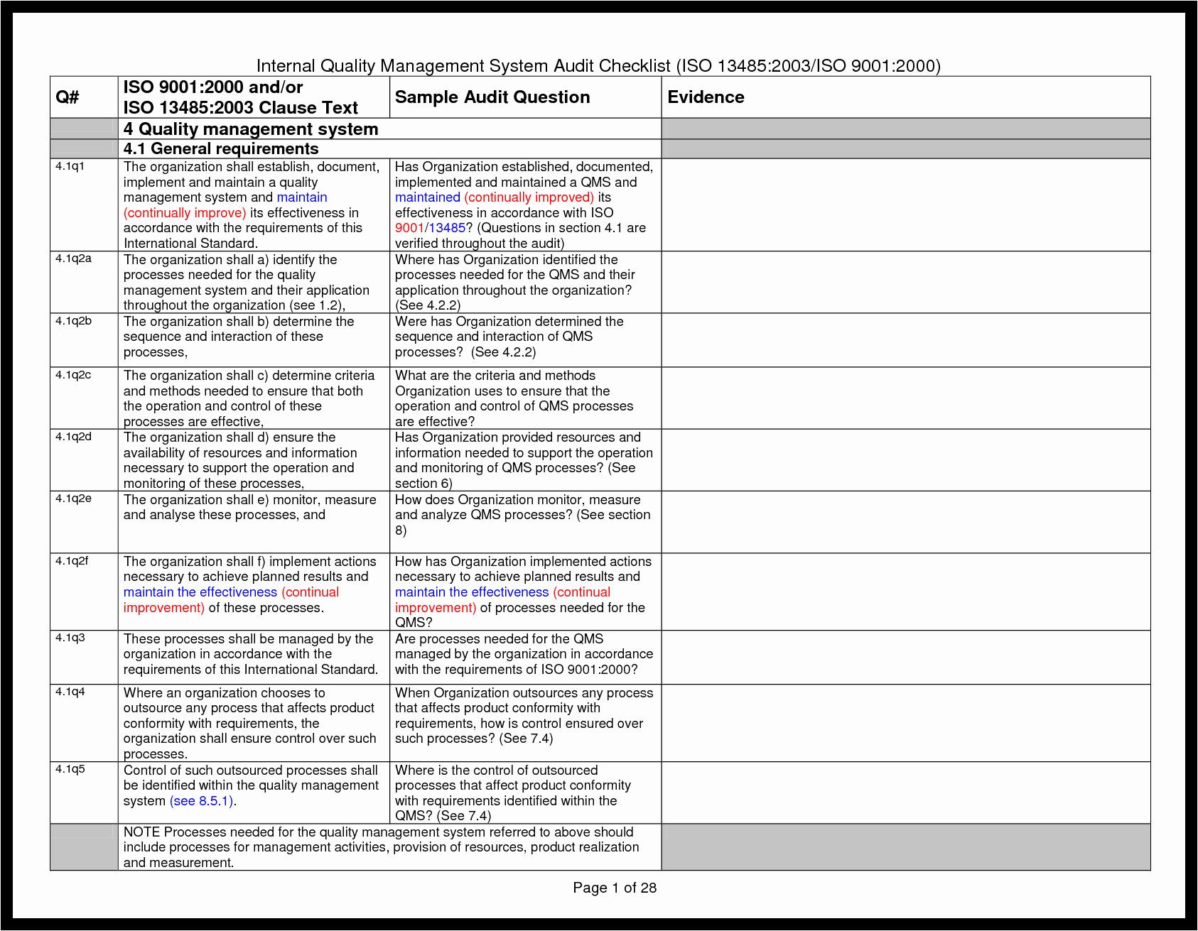 Quality assurance Reports Template Beautiful Best S Quality Checklist Template assurance Audit